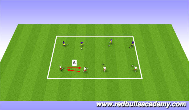 Football/Soccer Session Plan Drill (Colour): Warm Up II