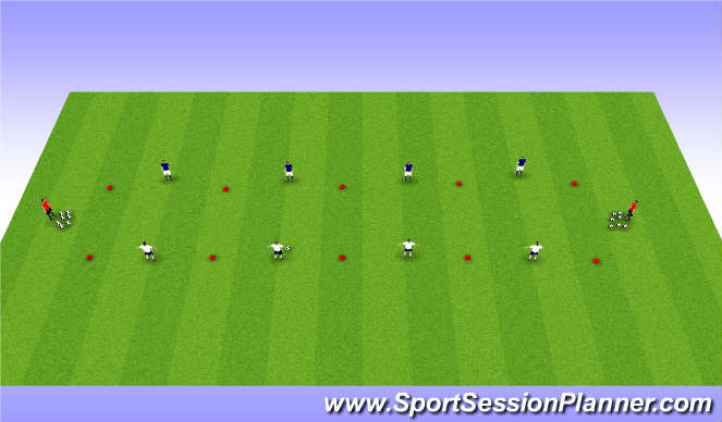 Football/Soccer Session Plan Drill (Colour): Defending Basics