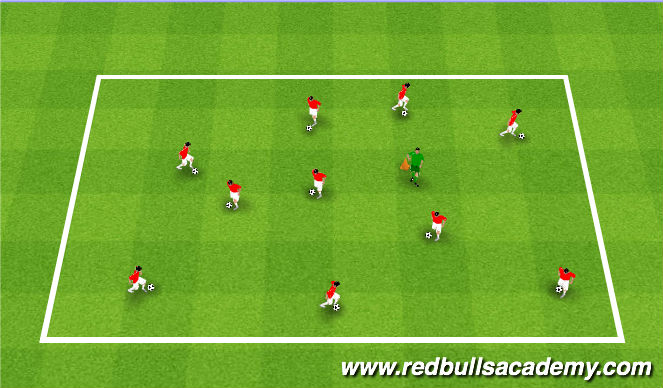Football/Soccer Session Plan Drill (Colour): Witch hat game