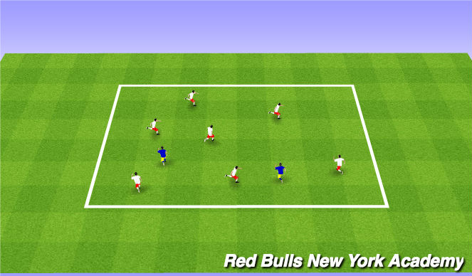 Football/Soccer Session Plan Drill (Colour): Warm Up (U5)