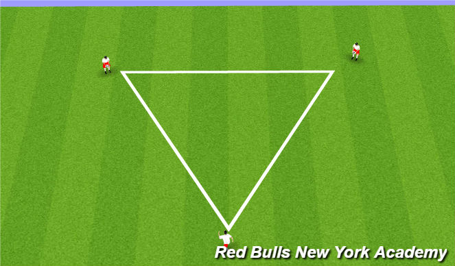 Football/Soccer Session Plan Drill (Colour): trianlge work
