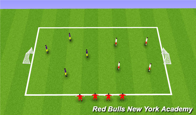 Football/Soccer Session Plan Drill (Colour): Queen of the hill tournamenet