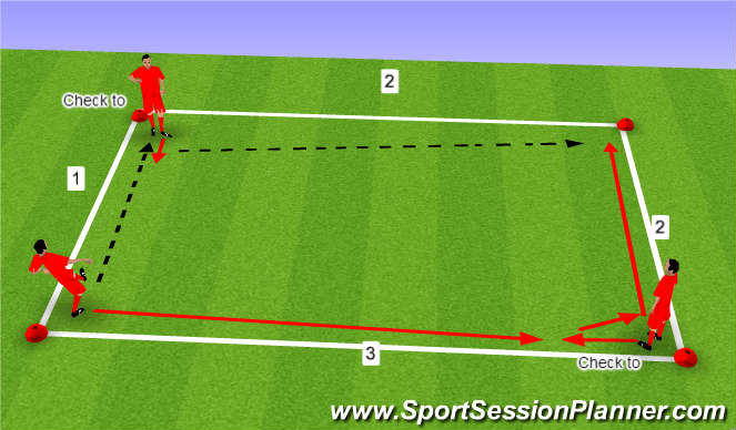 Football/Soccer Session Plan Drill (Colour): Simple Square