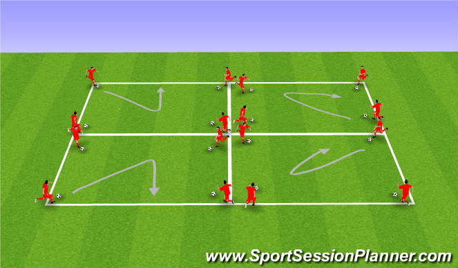 Football/Soccer Session Plan Drill (Colour): 1v1 No/Limited Pressure (10 mins)