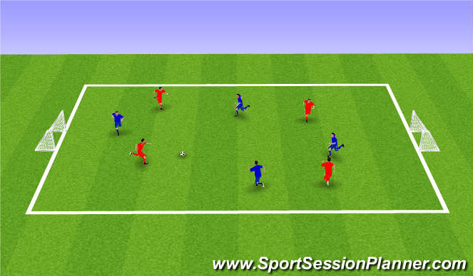 Football/Soccer Session Plan Drill (Colour): SSG (30 mins)
