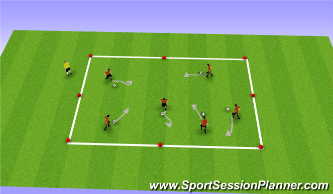 Football/Soccer Session Plan Drill (Colour): Soccer Marbles