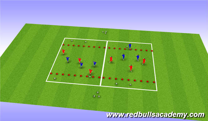 Football/Soccer Session Plan Drill (Colour): Dribbling,Skill practice