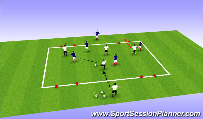 Football/Soccer Session Plan Drill (Colour): switching-play