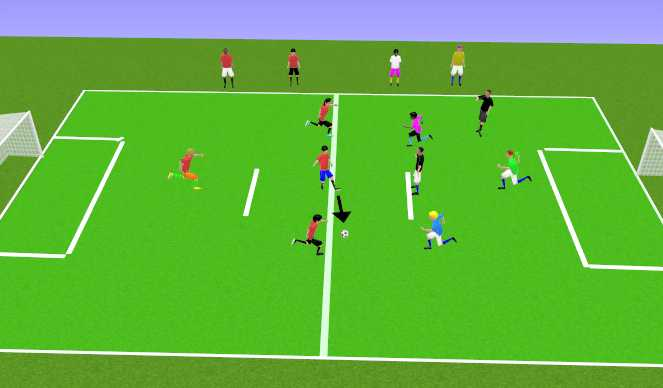 Football/Soccer Session Plan Drill (Colour): Play 4v4