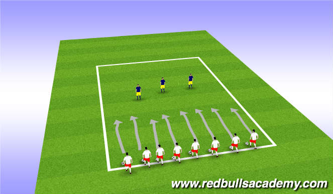 Football/Soccer Session Plan Drill (Colour): Main Theme - Dribbling - Sharks and Nemo's