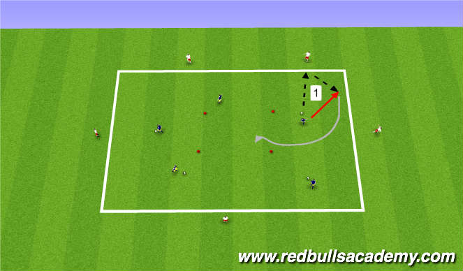 Football/Soccer Session Plan Drill (Colour): Warm Up - Passing / Receiving