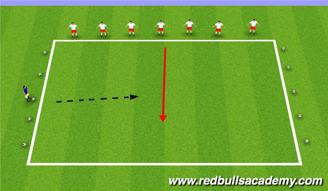 Football/Soccer Session Plan Drill (Colour): Main Theme - Passing / Shooting