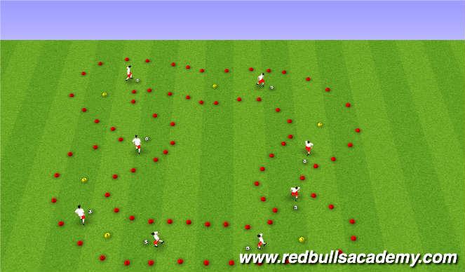 Football/Soccer Session Plan Drill (Colour): Main Theme - Dribbling / RWB