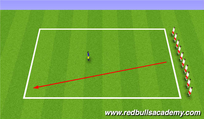 Football/Soccer Session Plan Drill (Colour): Main Theme - Dribbling / RWB