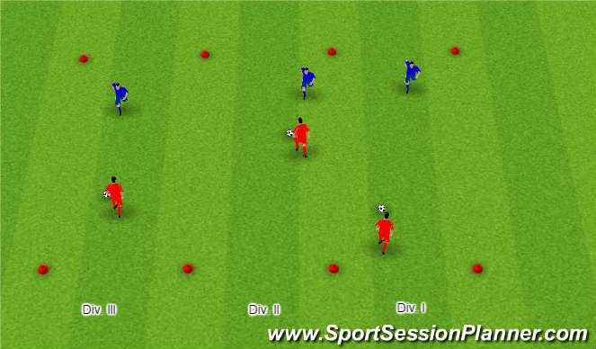Football/Soccer Session Plan Drill (Colour): 1 V 1 Possession