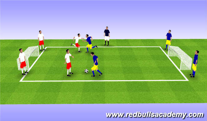 Football/Soccer Session Plan Drill (Colour): Main Theme 2v2