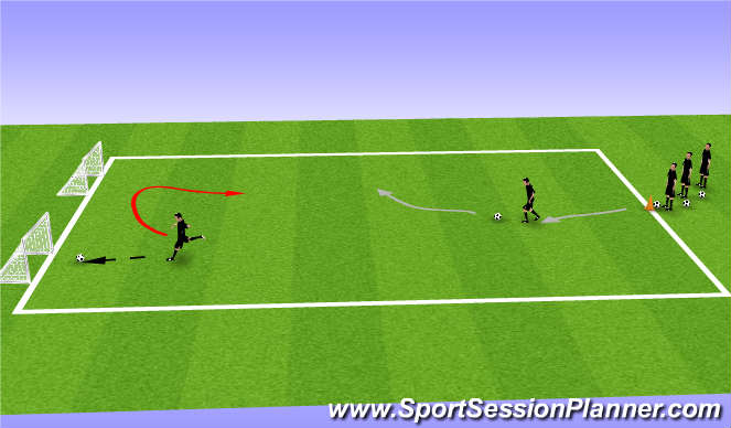 Football/Soccer Session Plan Drill (Colour): Speed Work