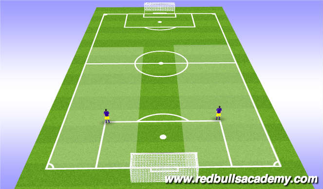 Football/Soccer Session Plan Drill (Colour): Outside Def