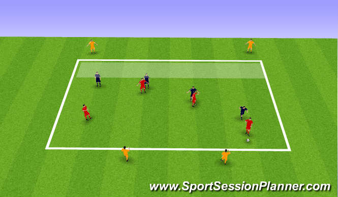 Football/Soccer Session Plan Drill (Colour): front 4