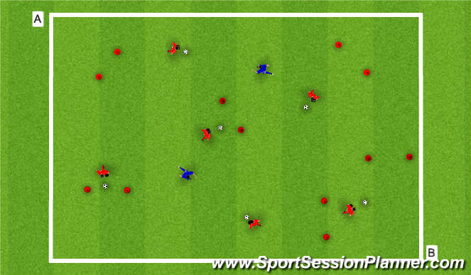Football/Soccer Session Plan Drill (Colour): 2 Def. Gates