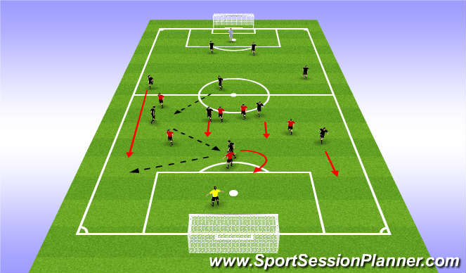 Football/Soccer Session Plan Drill (Colour): Shadow Play