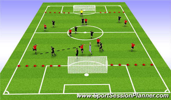 Football/Soccer Session Plan Drill (Colour): Coaching in the Game