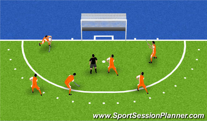 Hockey Session Plan Drill (Colour): warmup