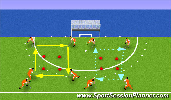 Hockey Session Plan Drill (Colour): technical2