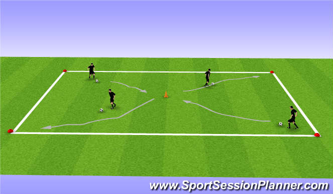 Football/Soccer Session Plan Drill (Colour): Coerver Ball Work