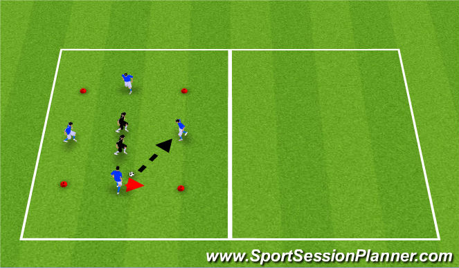Football/Soccer Session Plan Drill (Colour): Rondo OR Technical Warm-up