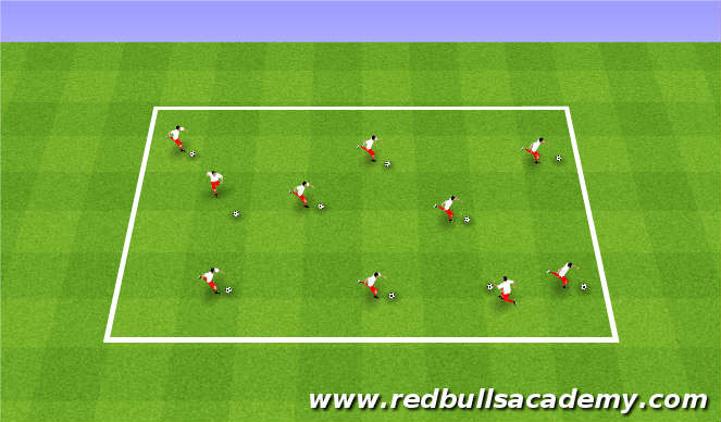 Football/Soccer Session Plan Drill (Colour): Dribbling and Ball Mastery