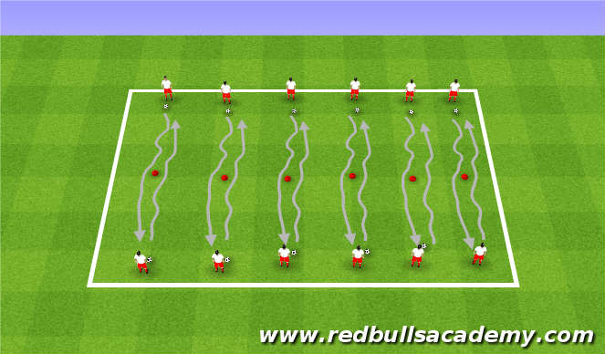 Football/Soccer Session Plan Drill (Colour): Introduction of moves