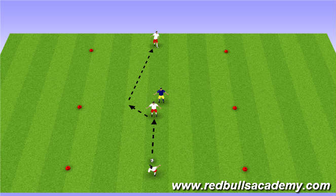 Football/Soccer Session Plan Drill (Colour): Main Theme Semi Opposed