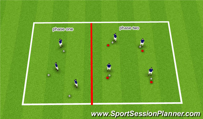 Football/Soccer Session Plan Drill (Colour): Skill of the day