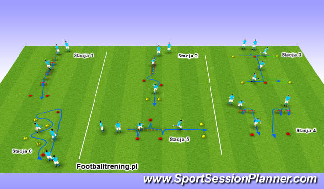 Football/Soccer Session Plan Drill (Colour): Schemat 1