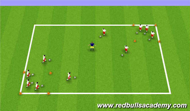 Football/Soccer Session Plan Drill (Colour): Yogi Bear's Picnic