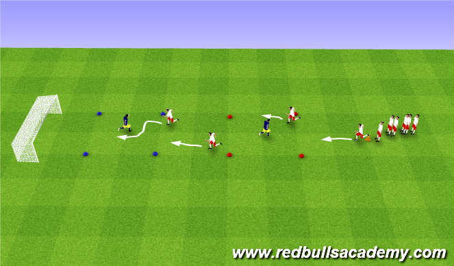Football/Soccer Session Plan Drill (Colour): Moves without the ball