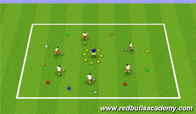 Football/Soccer Session Plan Drill (Colour): Lost in Space