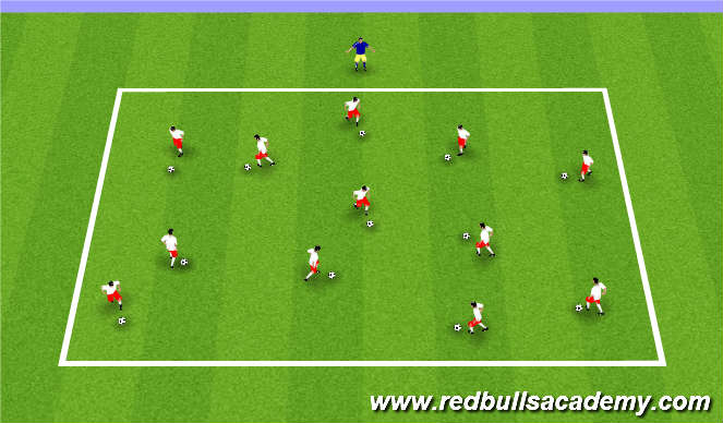Football/Soccer Session Plan Drill (Colour): Traffic Lights