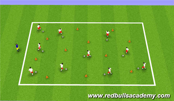Football/Soccer Session Plan Drill (Colour): Body Ball