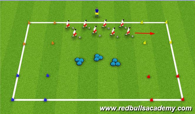 Football/Soccer Session Plan Drill (Colour): Mario Cart