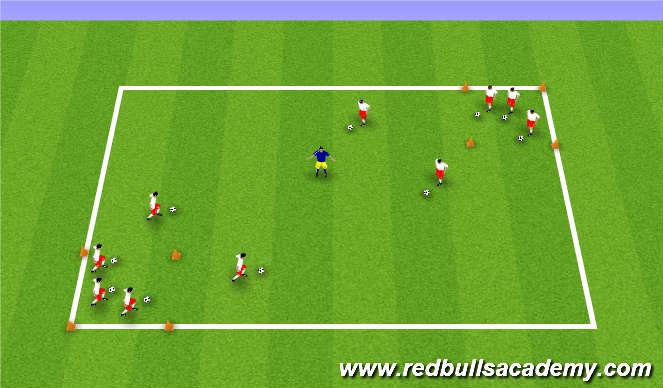 Football/Soccer Session Plan Drill (Colour): Yogi Bear