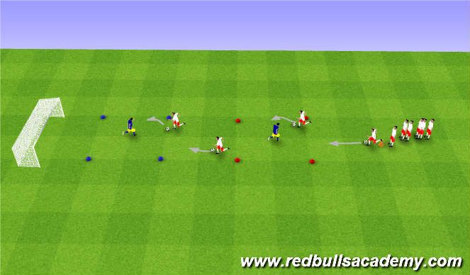 Football/Soccer Session Plan Drill (Colour): Moves with the ball