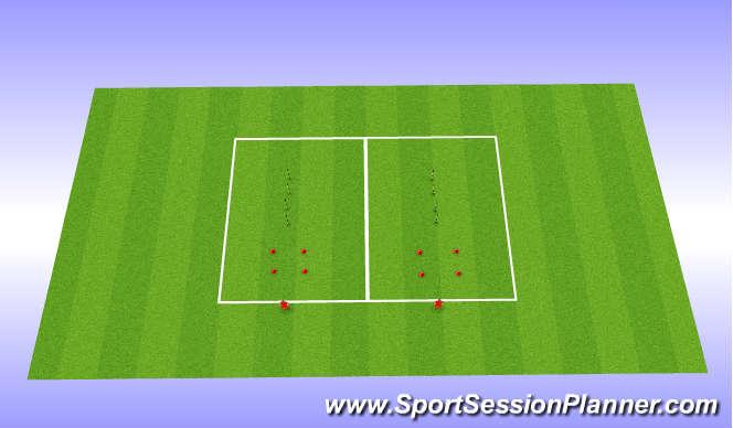 Football/Soccer Session Plan Drill (Colour): Agility W/O Ball