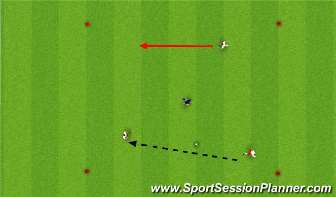 Football/Soccer Session Plan Drill (Colour): 3 v 1 / 4 v 1