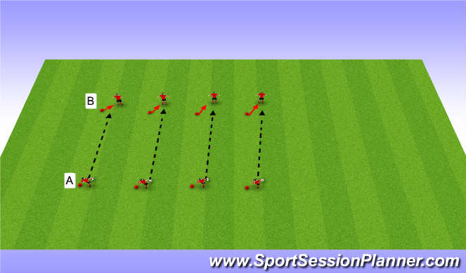 Football/Soccer Session Plan Drill (Colour): Basic passing/receiving