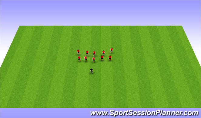 Football/Soccer Session Plan Drill (Colour): Interaction/Summary