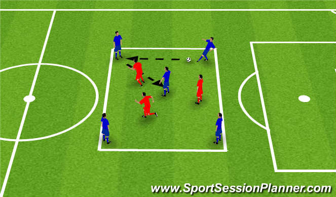 Football/Soccer Session Plan Drill (Colour): Playing in Tight Areas