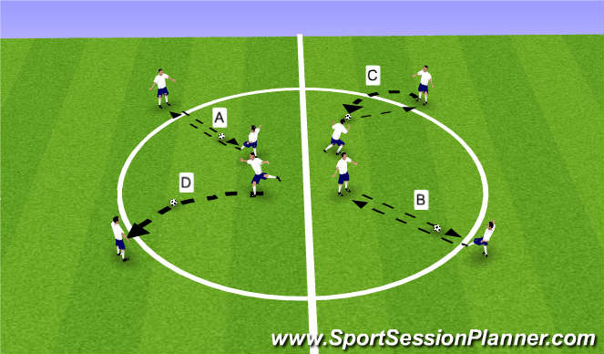 Football/Soccer Session Plan Drill (Colour): Tech