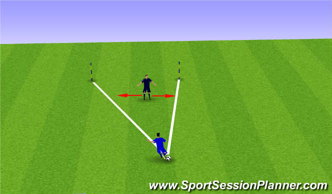 Football/Soccer Session Plan Drill (Colour): Intro to Angles